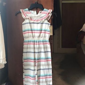 NWT girls stripped pant romper.